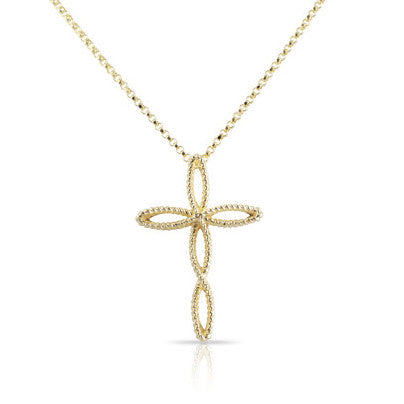 Barocco Braid Cross Necklace