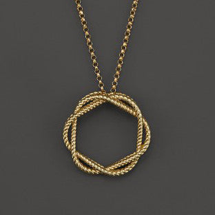 Barocco Braid Round Necklace