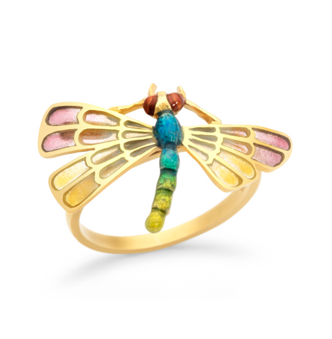 Enamel Dragonfly Ring