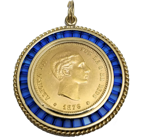 Spanish Coin Pendant