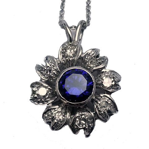 Synthetic Sapphire Necklace