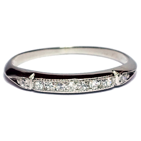 Thin Vintage Diamond Band