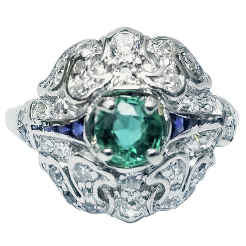 Vintage Emerald & Sapphire Ring