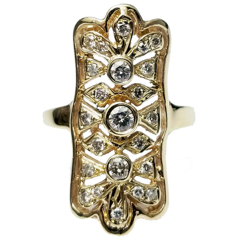 Vertical Vintage Ring