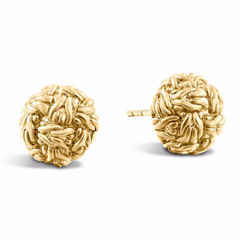 Classic Chain Yellow Knot Studs