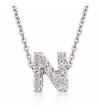 Tiny Initial ''N'' Necklace