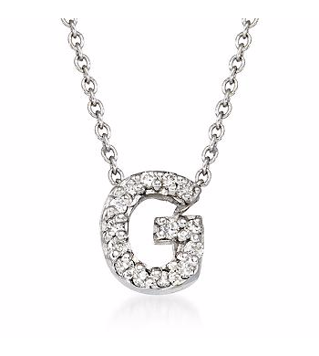 Tiny Initial ''G'' Necklace