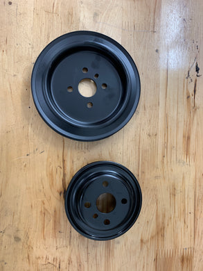 2g Water Pump pulleys (powdercoated black)