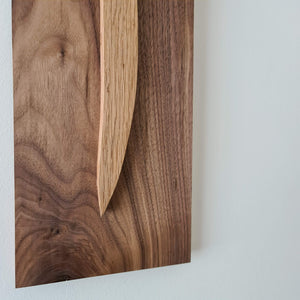 Alif (Oak on Walnut)