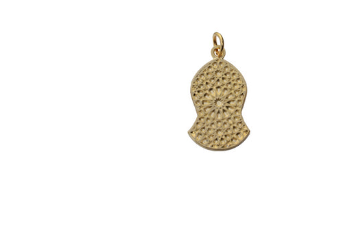 Blessed Sandal Pendant - Gold