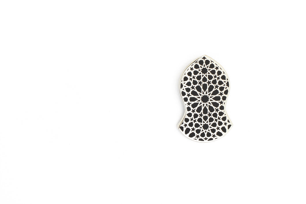 Blessed Sandal Hijab Pin - Silver