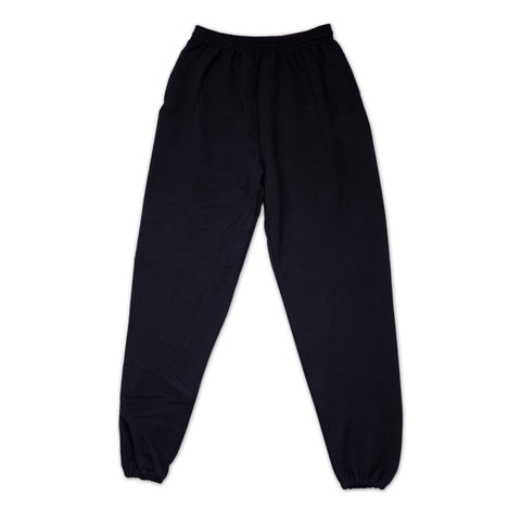 """011 GLOBE"" Black Sweatpants"