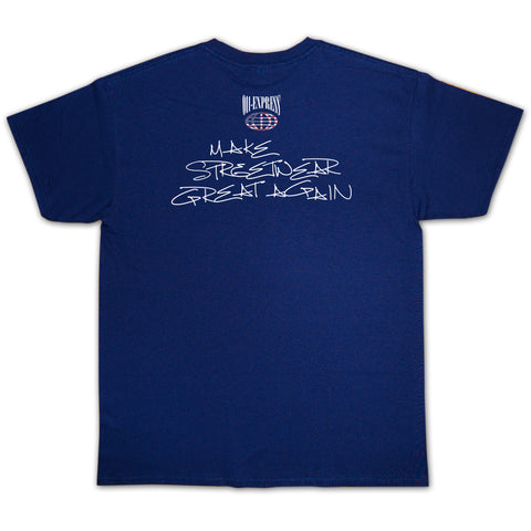 """DONALD WEST"" Navy Tee"