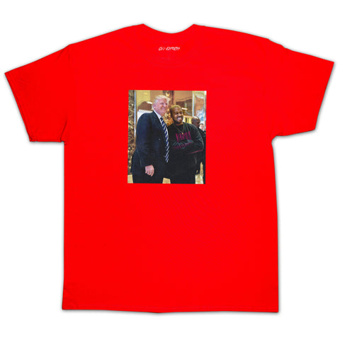 """DONALD WEST"" Red Tee"