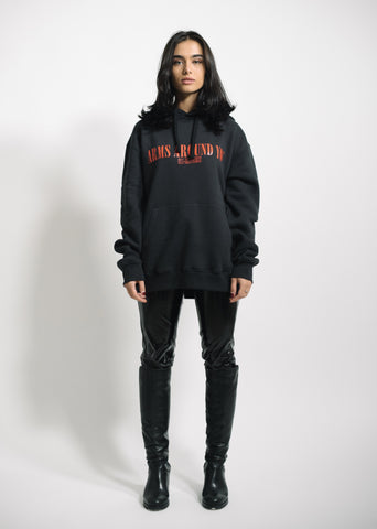 """ARMS AROUND YOU"" - Black/Red Hoodie - 011-EXPRESS"