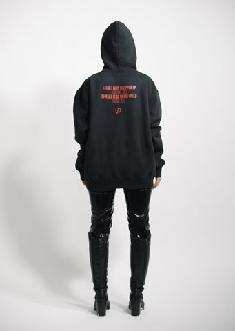 """ARMS AROUND YOU"" - Black/Red Hoodie"