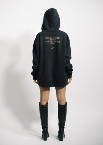 """ARMS AROUND YOU"" - Black/Rainbow F&F Hoodie - 011-EXPRESS"