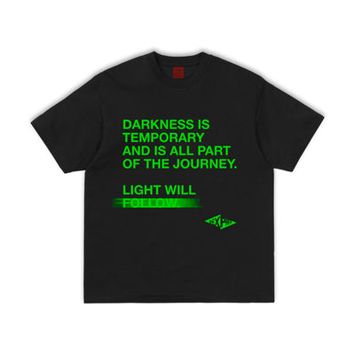 """LIGHT WILL FOLLOW"" 3rd ANNIVERSARY Black Tee - 011-EXPRESS"