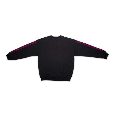 """NOT A WORLD TOUR 3D LOGO"" Black Crewneck - 011-EXPRESS"