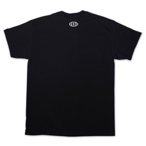 """NOT A WORLD TOUR EMPTY LOGO"" Black Tee - 011-EXPRESS"