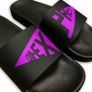 """SPLIT LOGO"" Violet 3D Embossed Slides"