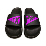 """SPLIT LOGO"" Violet 3D Embossed Slides - 011-EXPRESS"
