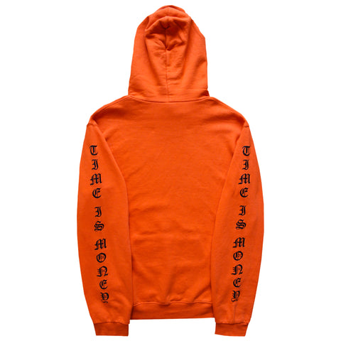 """Time Is Money"" Hoodie - Orange - 011-EXPRESS"