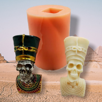 Nefertiti Skull Resin Mold