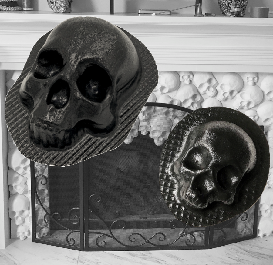 Skull Fireplace Mold Set