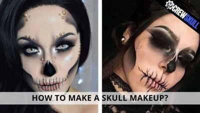 How to make a skull makeup?