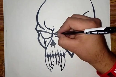 draw the simple skull tattoo