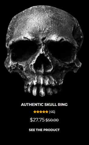 authentic skull ring