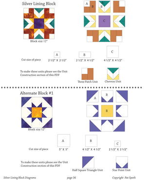 Silver Lining Quilt Two Block Design Guide PDF Download