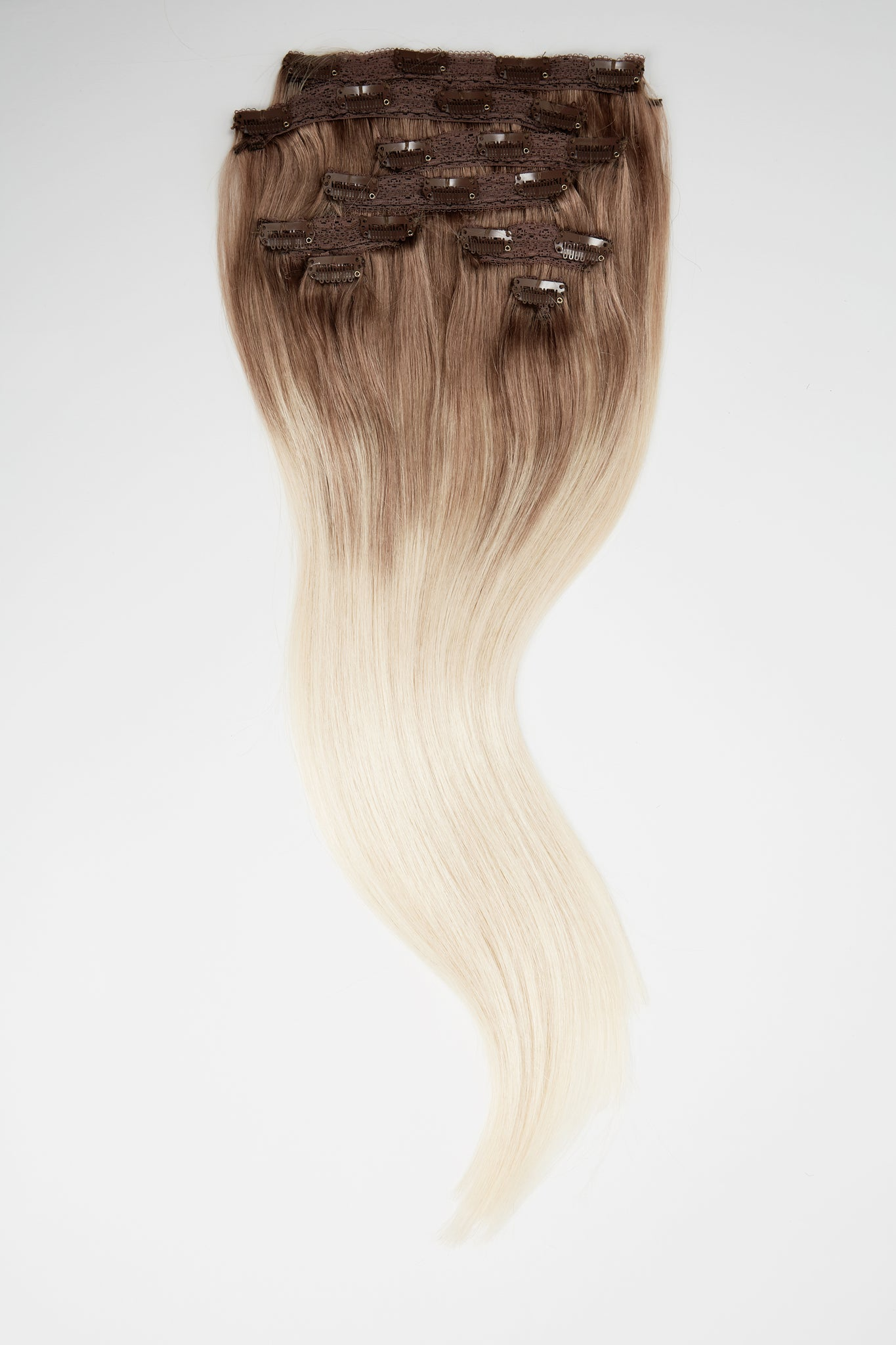 "Cool Ultra Blonde Balayage 3"" Rooted Hair Extensions"