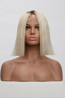 "Cool Ultra Blonde 1"" Rooted Blunt End Wig"