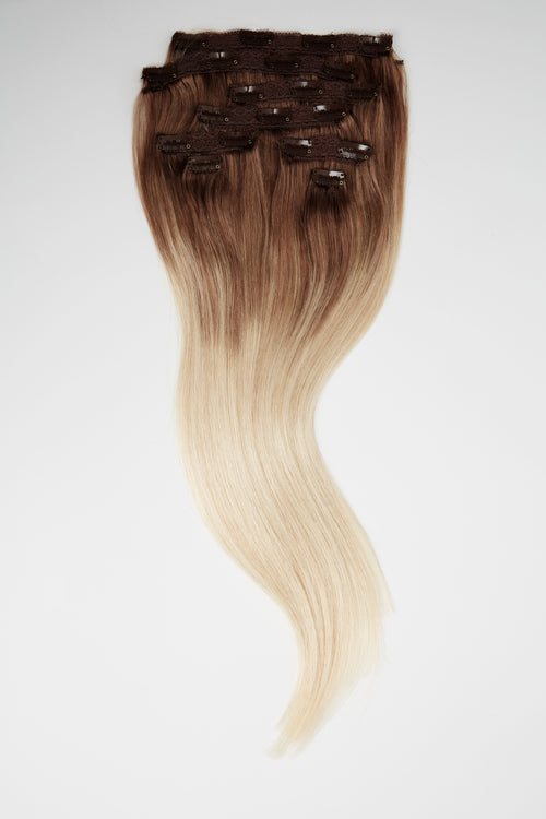 "Warm Super Blonde Balayage 3"" Rooted Hair Extensions"