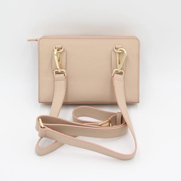 Clutch, Belt Bag, Shoulder Bag, crossbody, Crossbody Bag, Small Bag, Small Purse, Travel Purse, Evening Purse, Fanny Pack, Small Bag, Leather Purse, Leather Bag, clutches, soclutch, color-body-champagne beige/blush edge
