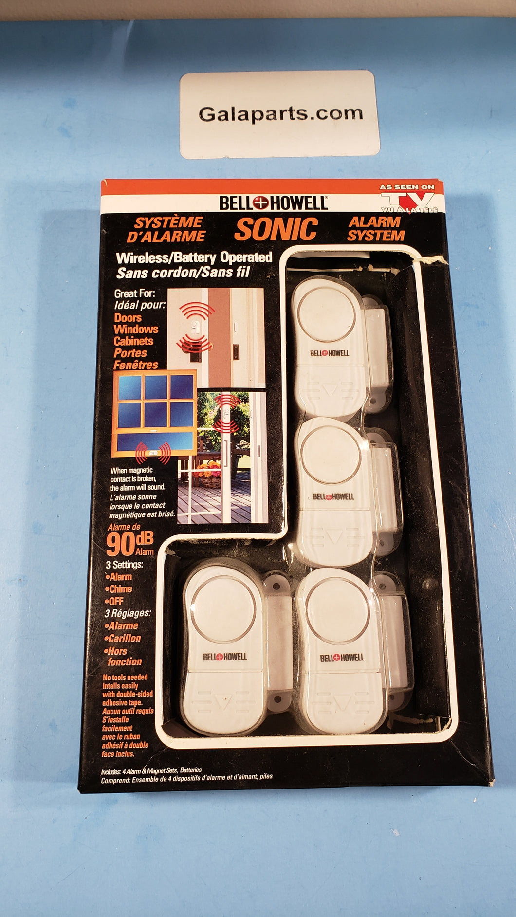 Wireless battery operated door window alarm chime system Bell Howell - Electronics TV Parts - GalaParts.com