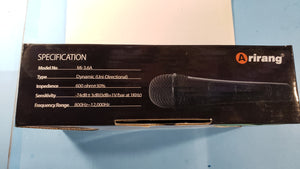 Karaoke wired dynamic micro phone Arirang Mi-3.6A - Electronics TV Parts - GalaParts.com