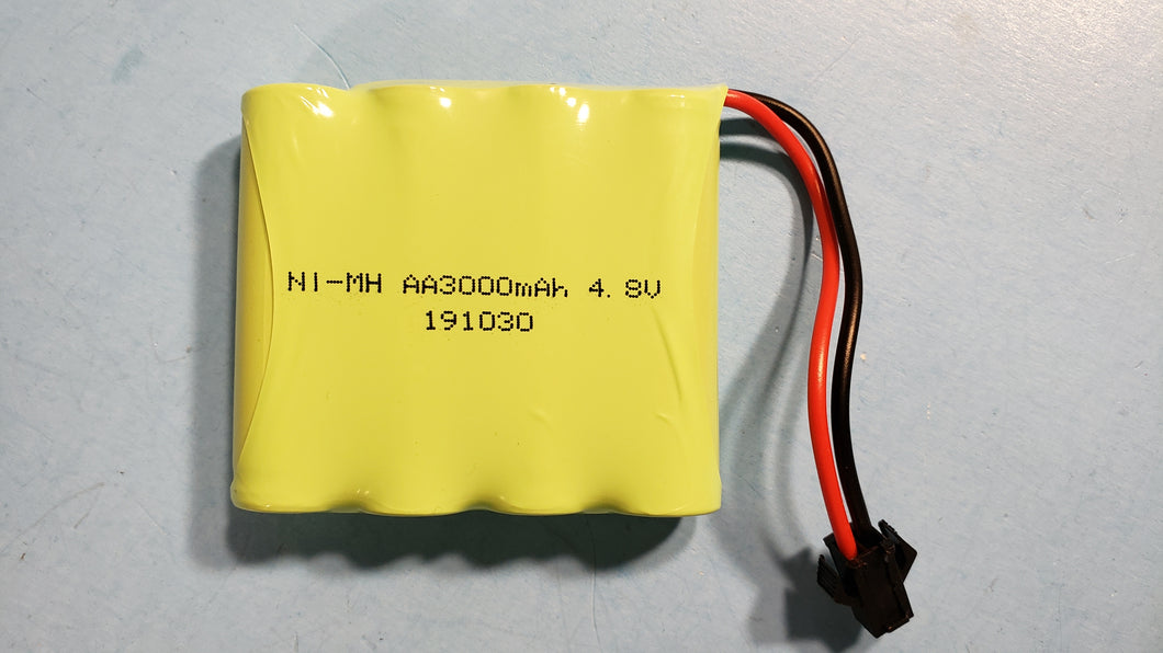 4.8V 3000mAh NI-MH Rechargeable Flat Battery Pack Compatible for RC, connector at your choice - Electronics TV Parts - GalaParts.com