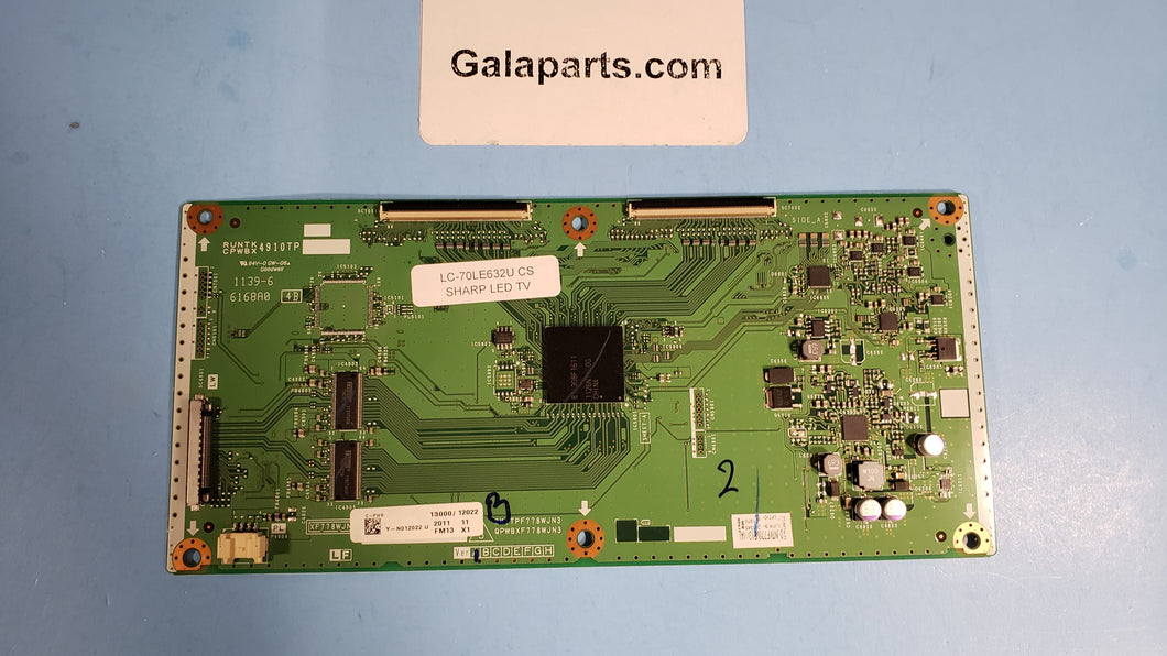 QPWBXF778WJN3 DJNTKF773WF13 FM13 LC-70LE632U Tcon SHARP - Electronics TV Parts - GalaParts.com