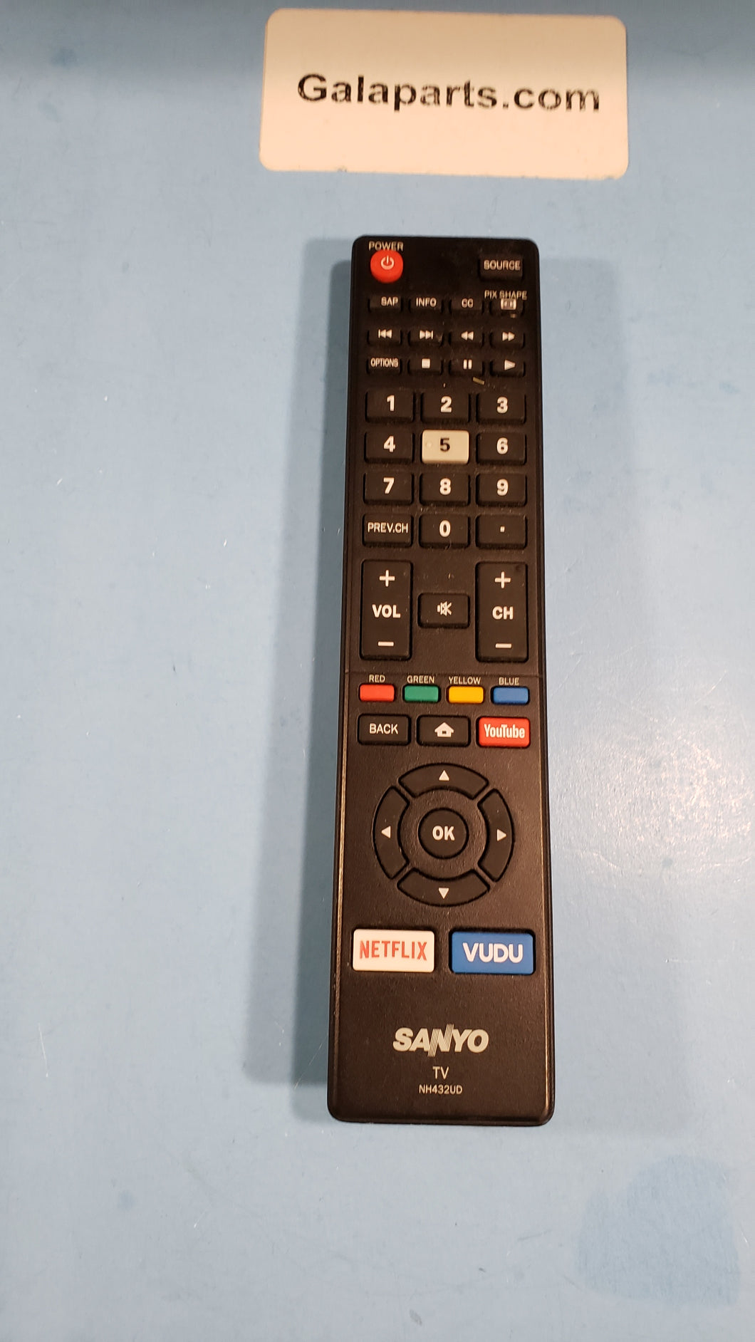 NC432UD remote control for SANYO TV FW65C78F - Electronics TV Parts - GalaParts.com