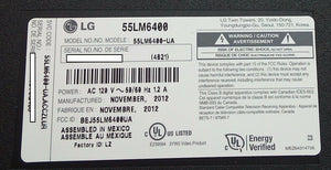 EAX64744401EAY62709002 LGP55L-12LPB-3P Power Supply LG 55LM6400 - Electronics TV Parts - GalaParts.com