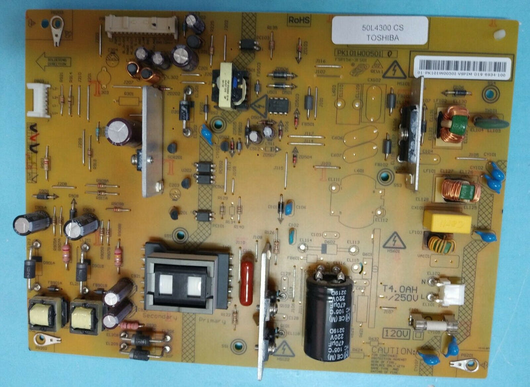 PK101W0050I  FSP156-3FS01) Power Supply Board 50L4300 TOSHIBA - Electronics TV Parts - GalaParts.com
