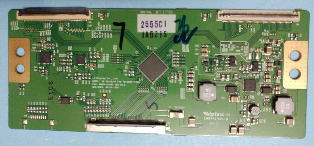 6870C-0368A 2555C  T-Con Board for 42LV3500 LG - Electronics TV Parts - GalaParts.com