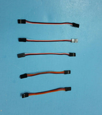 5 pcs servo extension cable male to male 100mm long RC Futaba JR FREE CANADA SHIPPING