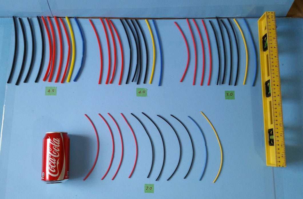 40pcs x 200mm, 4 size multi-color RC hobby Heat Shrink Tube FREE CANADA SHIPPING - Electronics TV Parts - GalaParts.com