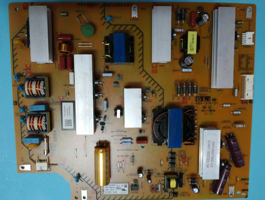 APS-395/B(CH) 147463321  1-980-310-21 GL6 Power Supply Board XBR-65X750D SONY - Electronics TV Parts - GalaParts.com