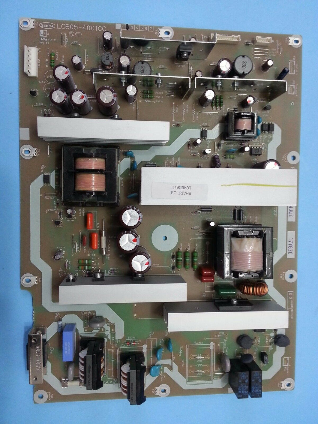 RDENCA184WJQZ  LC605-4001CC LC-46D64U  power board SHARP