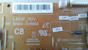 BN44-00666A L40GF_DDY UN40EH5300 UN39EH5003 SAMSUNG power supply board - Electronics TV Parts - GalaParts.com